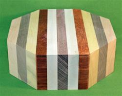 "Bowl #427 - Large Striped Segmented Bowl Blank ~ 9 1/2"" x 3 1/2"" ~ $64.99"