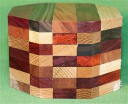 "Bowl #432 - Crazy Eclectic Segmented Bowl Blank ~ 5"" x 3 1/2"" ~ $37.99, Two only $32.99 Each"
