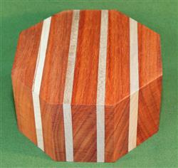 "Bowl #440 - Padauk & Cherry Segmented Bowl Blank ~ 5 1/2"" x 2 3/4"" ~ $24.99"