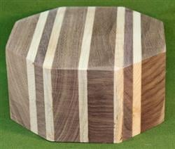 "Bowl #609 - Walnut & Maple Segmented Bowl Blank ~ 5 3/4"" x 3"" ~ $24.99"