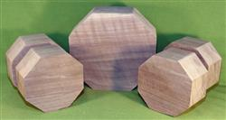 Bowl #806 - Black Walnut FIVE Piece Bowl Turning Blank Set ~ $124.99