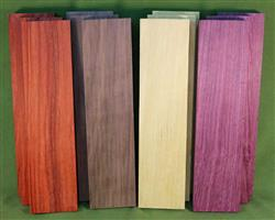 "Exotic Wood Craft Pack - 12 Boards 3"" x 12"" x 7/8""  #916  $69.99"