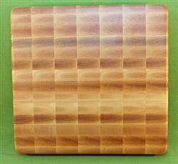 "Board #952 Yellow Birch End Grain Premium Cutting Board - 12 1/2"" x 12"" x 1 1/2"" - $39.99"
