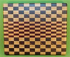 "Board #962 Exotic Hardwood End Grain Cutting Board 15 1/2"" x 12 1/2"" x 1 5/8"" - $94.99"