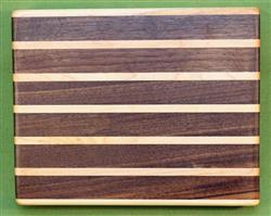 "Board #987 Sandwich / Bagel Cutting Board - Black Walnut & Maple 9"" x 7 1/4"" x 1 1/2"" - $27.99"