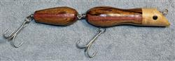 "Fishing Lure - 7 1/2""  - Striped Hardwoods - Two Section - Only $20.99 - Lure #28"
