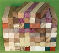 "Blank #325 - Pen Turning Blanks, Lot of 75, 11 Different Exotic Hardwoods,  Large Size, 7/8"" x 7/8"" x 6+"" ~ $62.99"
