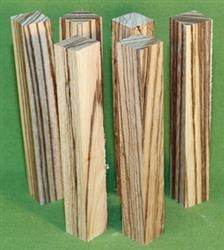"Blank #327 - Zebrawood Pen Turning Blanks, Set of 6,  7/8"" x 7/8"" x 6"" ~ $9.99"