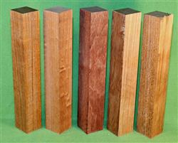 "Blank #725 - Jatoba Extra Long Solid Turning Blanks ~ 5 Each ~ 1 1/2"" x 1 1/2"" x 10"" ~ $20.99"