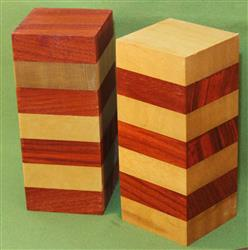 "Blank #352 - Padauk & Yellowheart - 2 Blanks ~ 2 1/2"" x 2 1/2 x 6"" ~ $27.99"