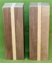 "Blank #733 - Walnut & Cherry - 2 Blanks ~ 3"" x 3"" x 9"" ~ $34.99"