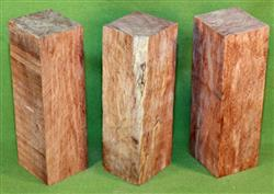 "Blank #762 - Bubinga Solid Turning Blanks ~ 3 Each ~ 2"" x 2"" x 6 1/4"" ~ $28.99"