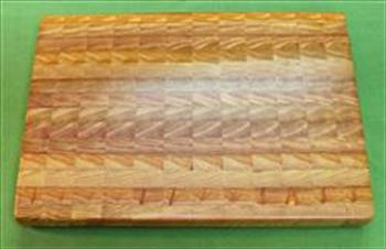 "Board #941  Larch / Tamarack End Grain Cutting Board - Medium - 17+"" x 12"" x 1 1/2"" - $89.99"