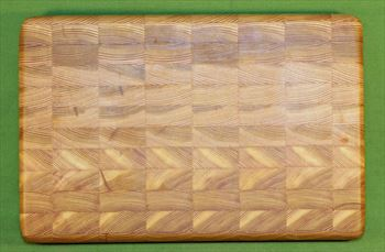 "Board #944 Larch / Tamarack End Grain Sandwich Board - 14 1/4"" x 9 1/2"""" x 1 1/4"" - $59.99"